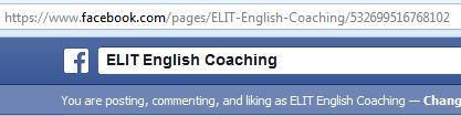ELIT English Coaching Facebook Page