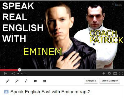 Speak fast English with Eminem